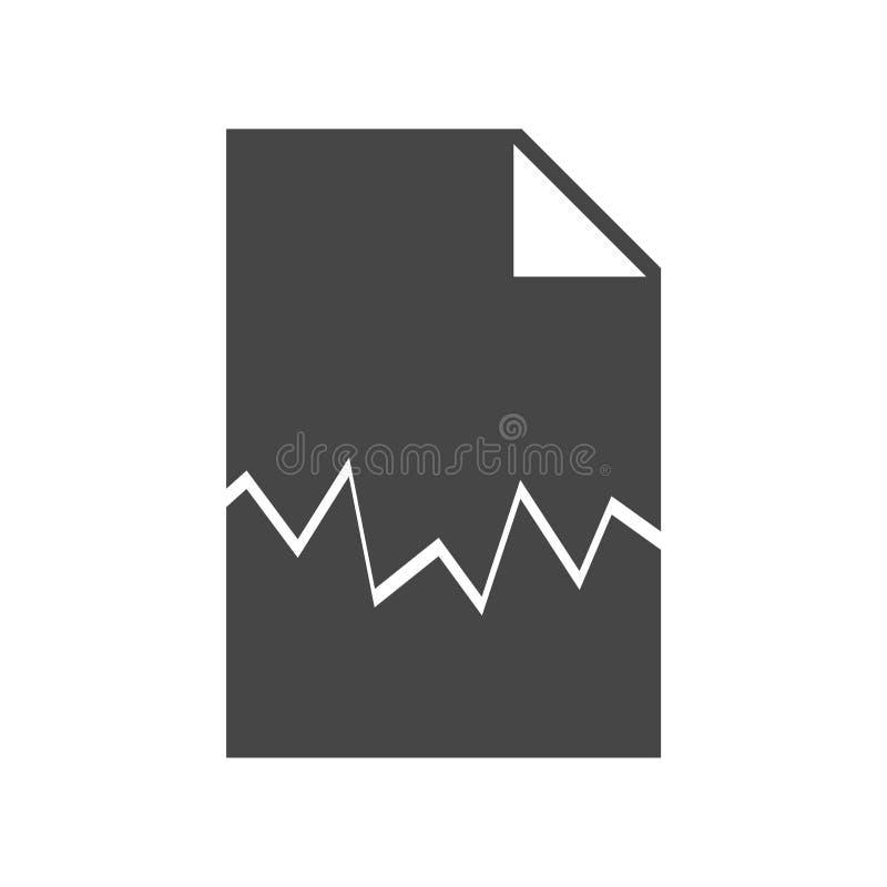 sönderriven dokumentsymbol stock illustrationer