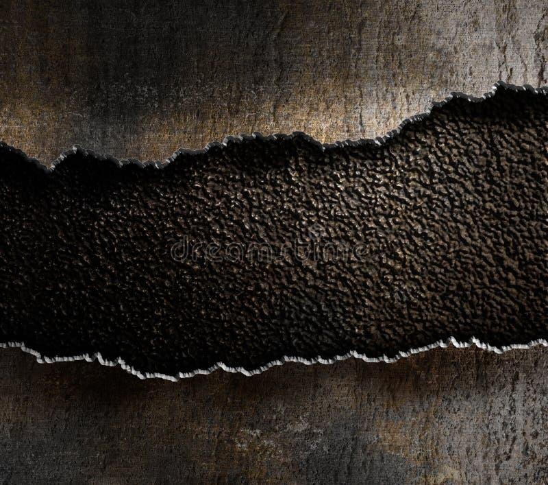 Sönderriven kantbakgrund för metall fotografering för bildbyråer