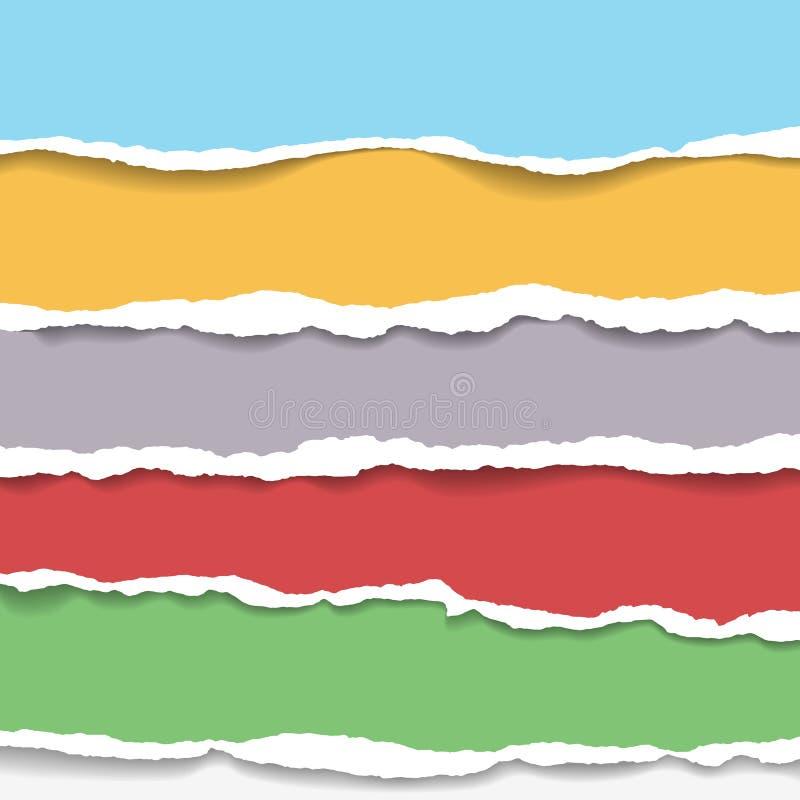 Sönderriven pappers- bakgrund med utrymme för text Planlägg illustrationmallvektorn för baner av webbsidan, nyheternamatning, tit vektor illustrationer