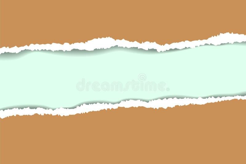 Sönderriven pappers- bakgrund med utrymme för text Planlägg illustrationmallvektorn för baner av webbsidan, nyheternamatning, tit royaltyfri illustrationer