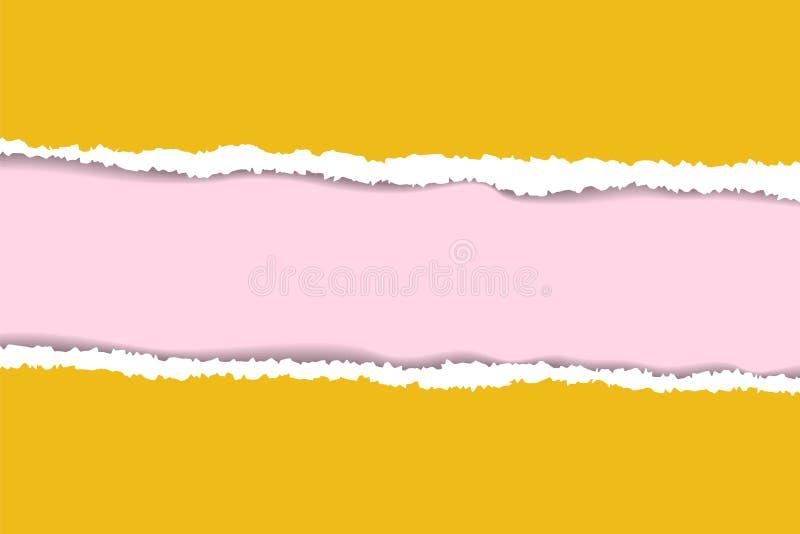 Sönderriven pappers- bakgrund med utrymme för text Planlägg illustrationmallvektorn för baner av webbsidan, nyheternamatning, tit stock illustrationer