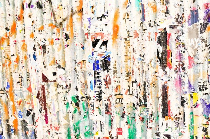 Sönderriven pappers- väggbakgrund för Grunge royaltyfri foto