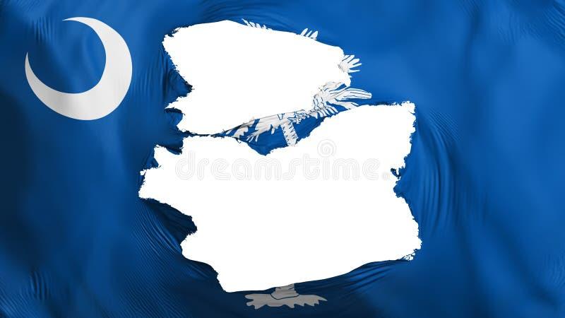 Söndersliten South Carolina statflagga stock illustrationer