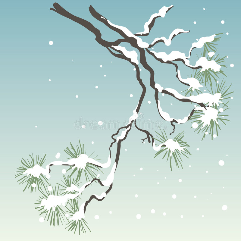 sörja treen stock illustrationer