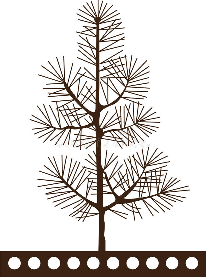 sörja treen vektor illustrationer