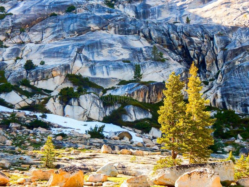 Sörjer och den Geoligical sikten av Yosemite arkivbilder
