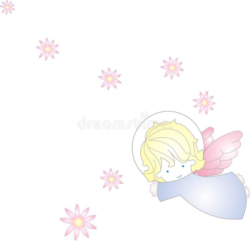 söt ängel stock illustrationer