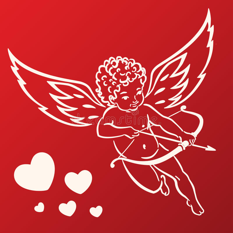 söt cupid royaltyfri illustrationer