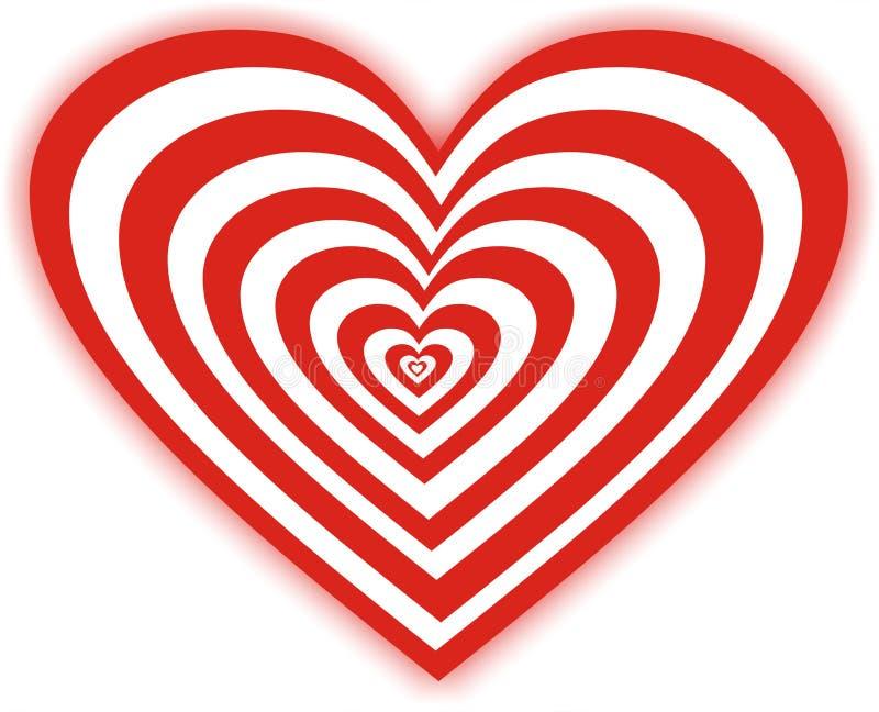 söt hjärta royaltyfri illustrationer