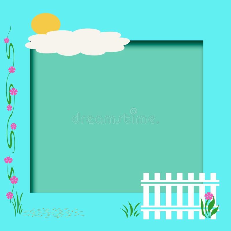 söt home scrapbook stock illustrationer