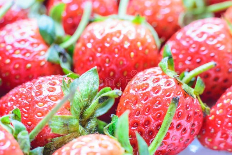 söt jordgubbe ny jordgubbe Rött strewberry fotografering för bildbyråer