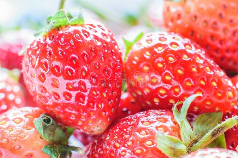 söt jordgubbe ny jordgubbe Rött strewberry arkivbilder