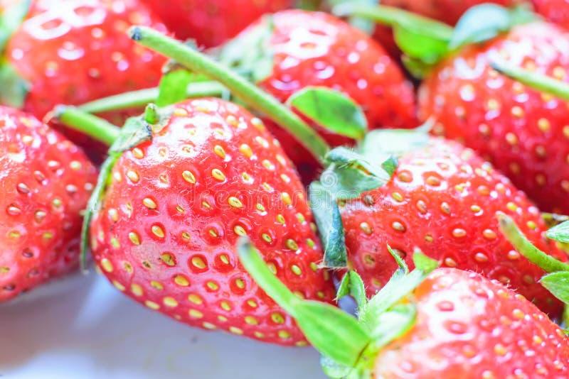söt jordgubbe ny jordgubbe Rött strewberry royaltyfri bild