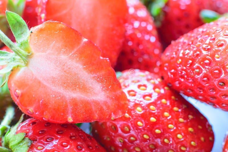söt jordgubbe ny jordgubbe Rött strewberry arkivbild