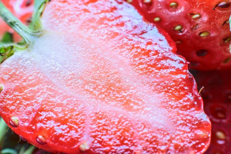 söt jordgubbe ny jordgubbe Rött strewberry royaltyfria bilder