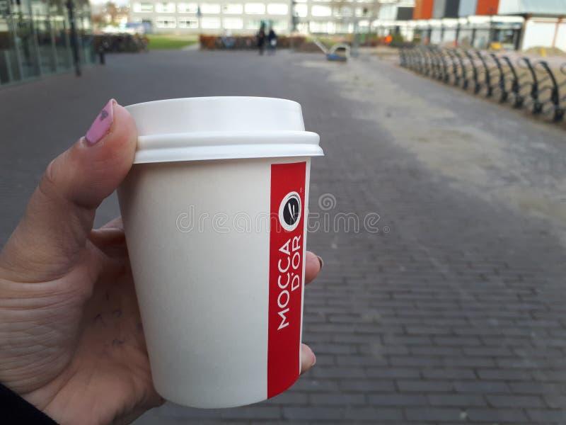 söt kopp för giffel för bakgrundsavbrottskaffe royaltyfri fotografi