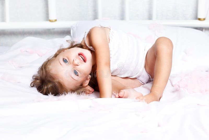 Söt liten flicka royaltyfria bilder