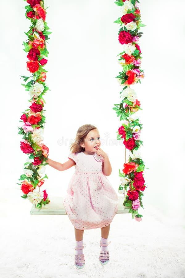 Söt liten flicka royaltyfria foton