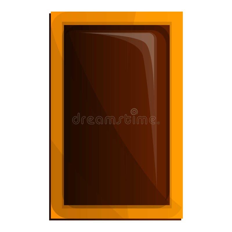 Söt ljusbrun symbol, tecknad filmstil stock illustrationer