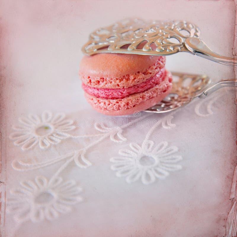 Söt Macarons bakgrund arkivbilder