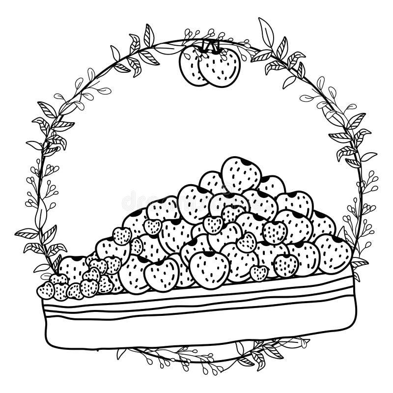 Söt och läcker kakadesign stock illustrationer