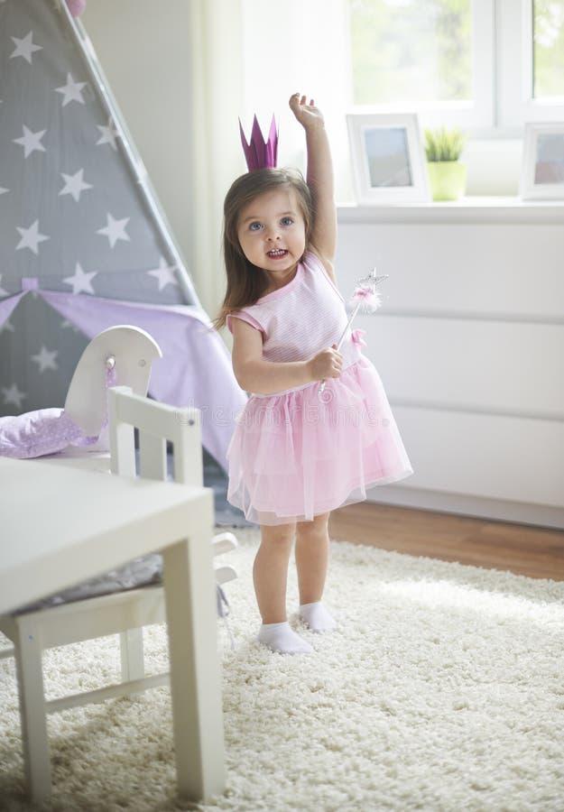 söt princess fotografering för bildbyråer