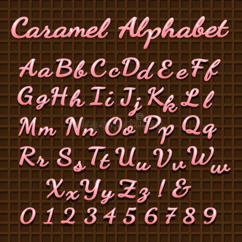 Söt rosa godisbokstäverstilsort vektor illustrationer