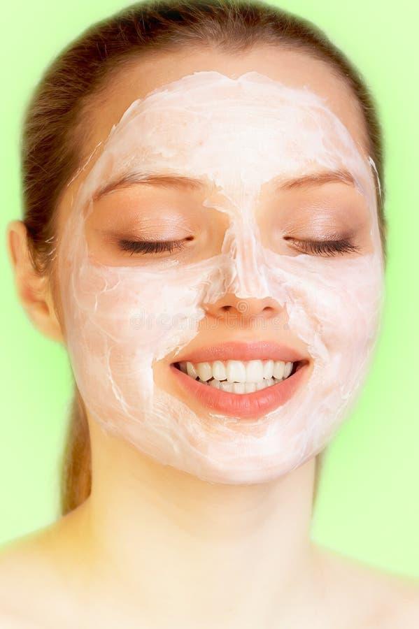 Download Söt skincare arkivfoto. Bild av green, pampered, grina - 510554
