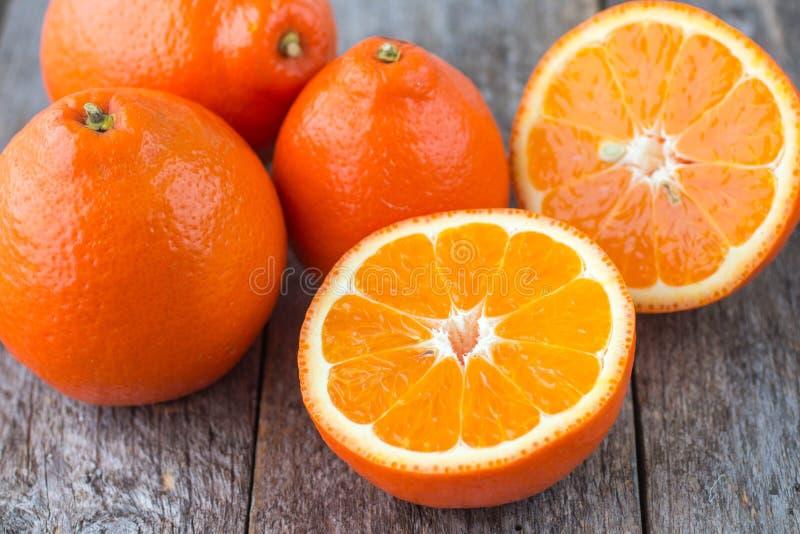 Söta apelsiner bär frukt (mineolaen) arkivfoto