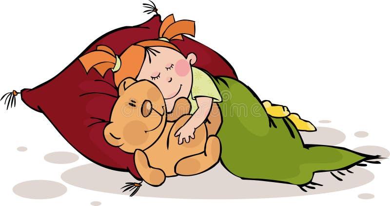 Download Söta drömmar vektor illustrationer. Illustration av barndom - 11919980