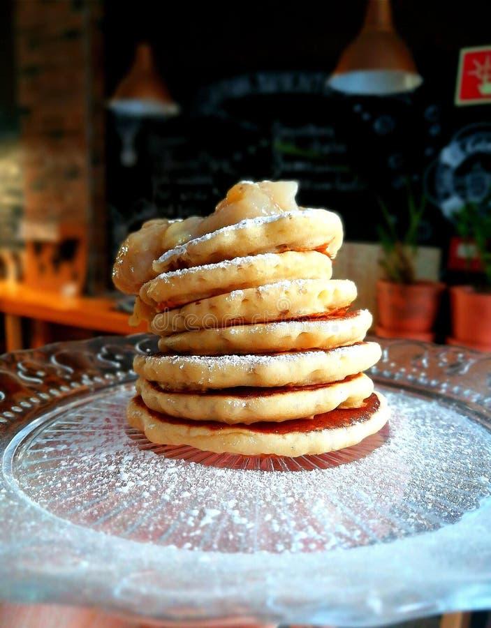 söta pannkakor fotografering för bildbyråer