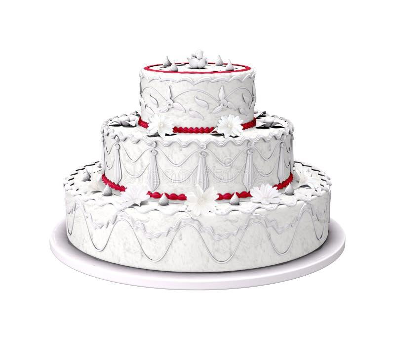 sött bröllop för cake stock illustrationer