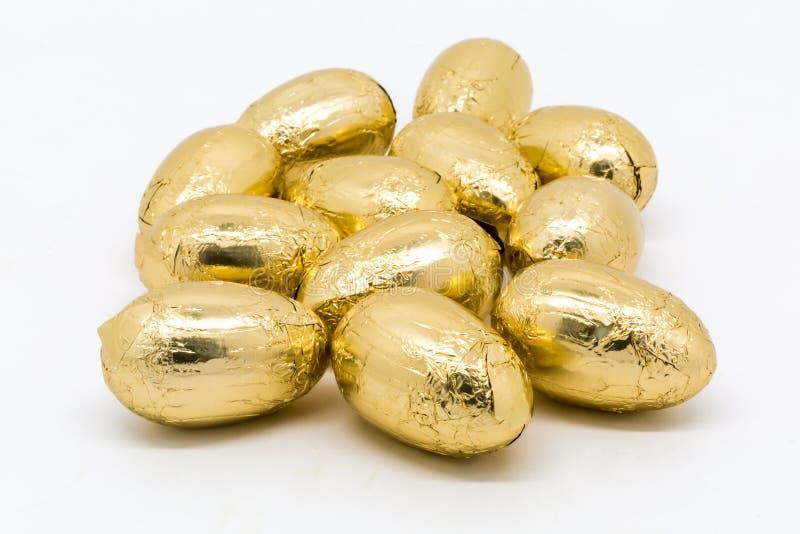sött traditionella chokladeaster ägg fotografering för bildbyråer