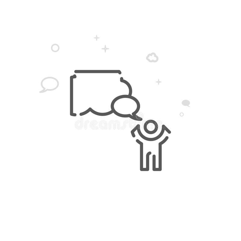 Súplica a la línea icono, símbolo, pictograma, muestra del vector del cielo Fondo geom?trico abstracto ligero Movimiento Editable ilustración del vector
