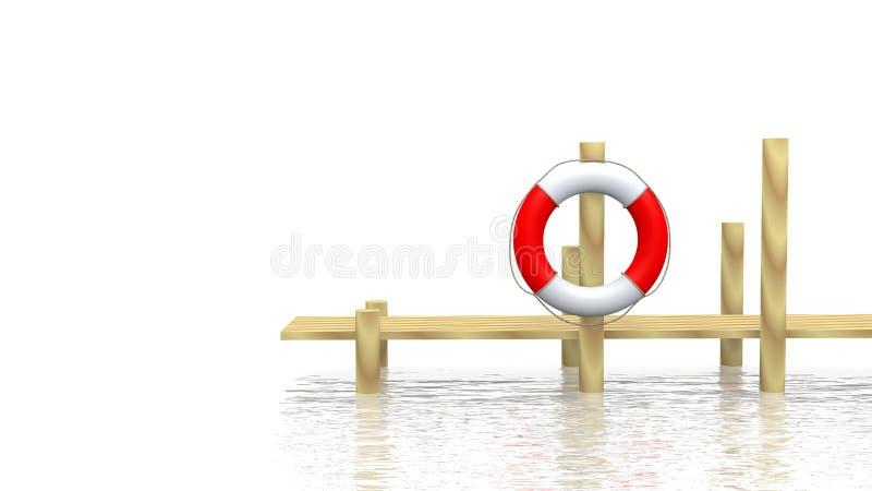 Sûr-bouy et pilier illustration de vecteur