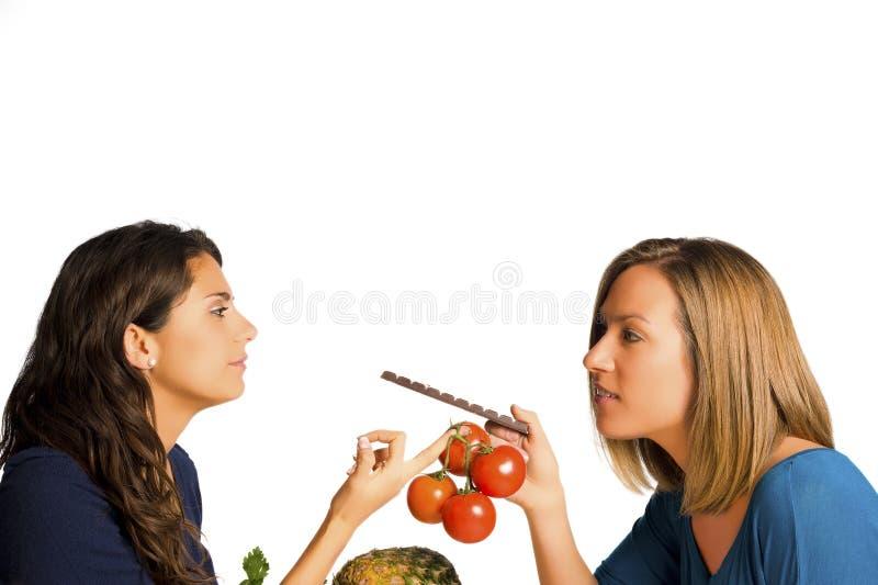 Süß oder gesund stockfoto
