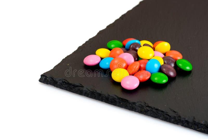 Süße Bonbon-Süßigkeit auf lokalisiert lizenzfreies stockbild