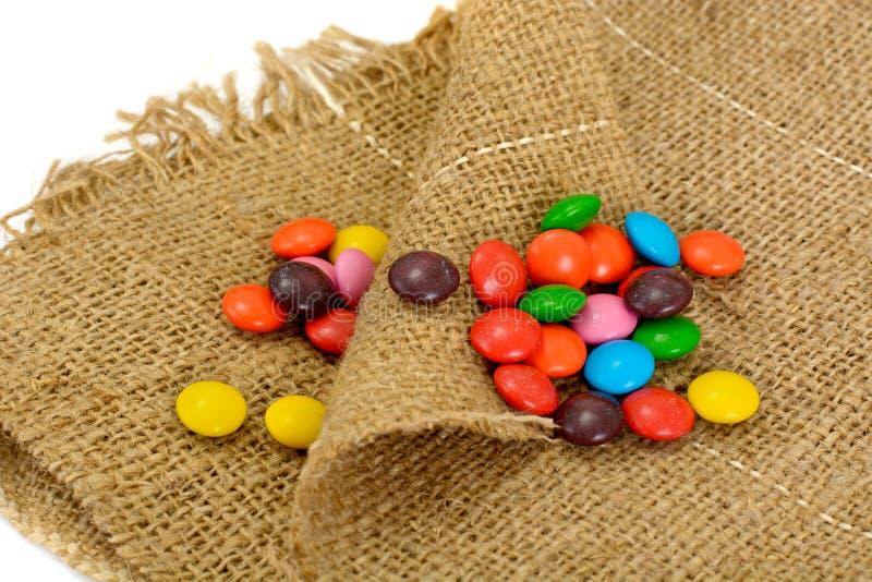 Süße Bonbon-Süßigkeit auf lokalisiert stockfoto