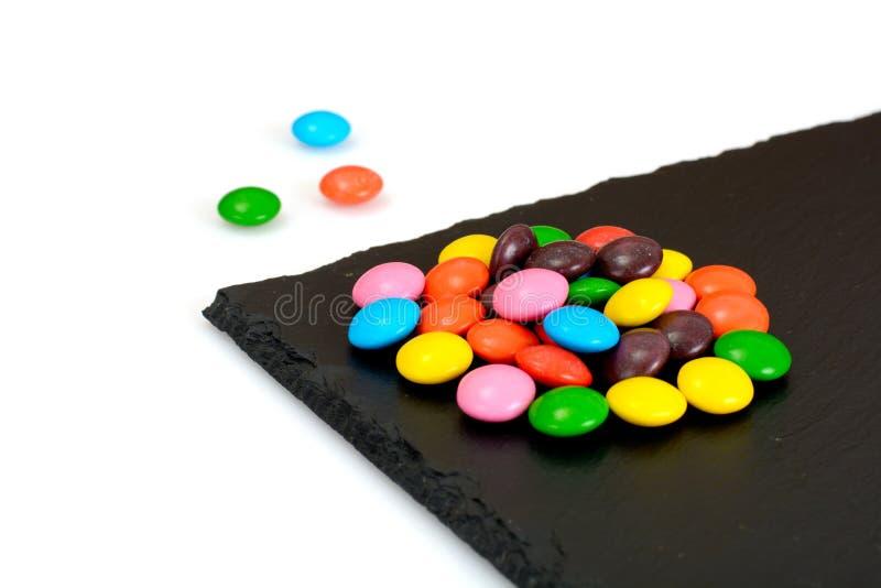 Süße Bonbon-Süßigkeit auf lokalisiert lizenzfreie stockfotografie