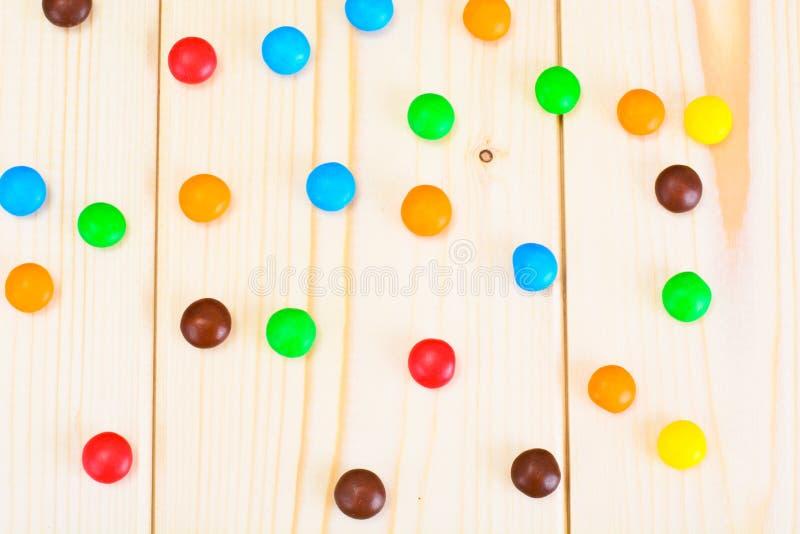 Süße Bonbon-Süßigkeit auf Woody stockfoto