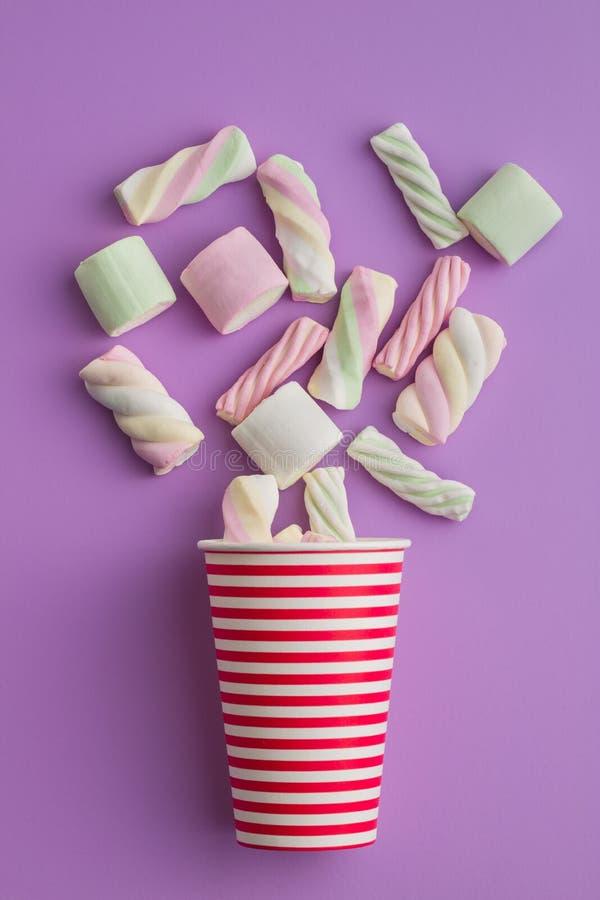 Süße bunte Eibische lizenzfreies stockfoto