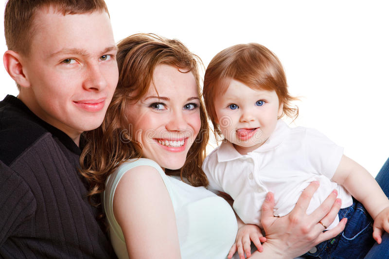 Süße Familie lizenzfreies stockbild