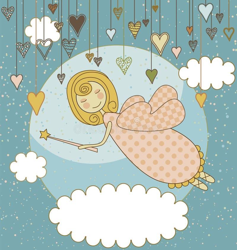 Süße feenhafte Karte stock abbildung