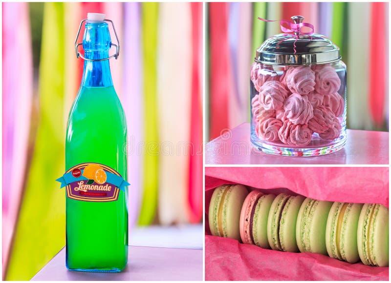 Süße Feiertagsbuffetparteicollage lizenzfreie stockfotos