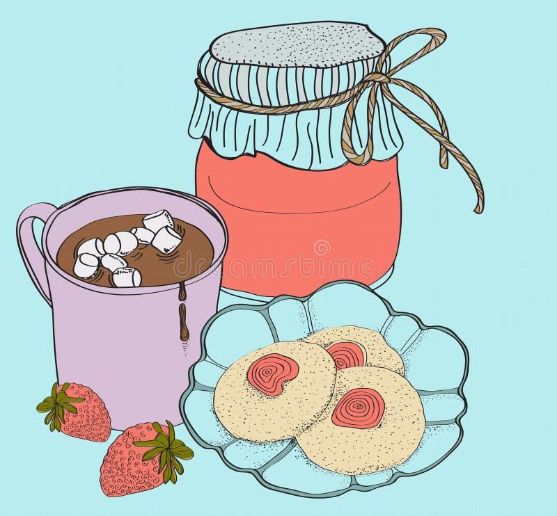 Süße Frühstückskarte Stockbild