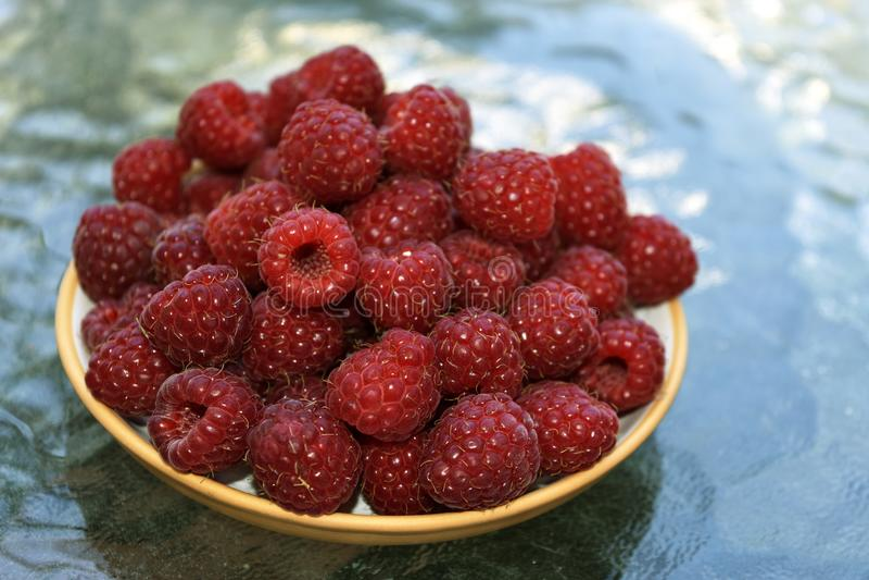 Süße Fruchthimbeergeschmackvolles Lebensmittel stockfoto