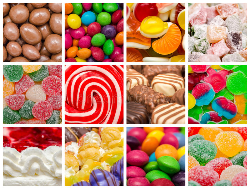 Süße Hintergrund-Collage stockfotos