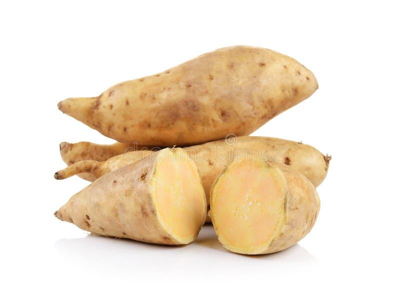 Süße Kartoffel getrennt auf weißem Hintergrund stockfoto