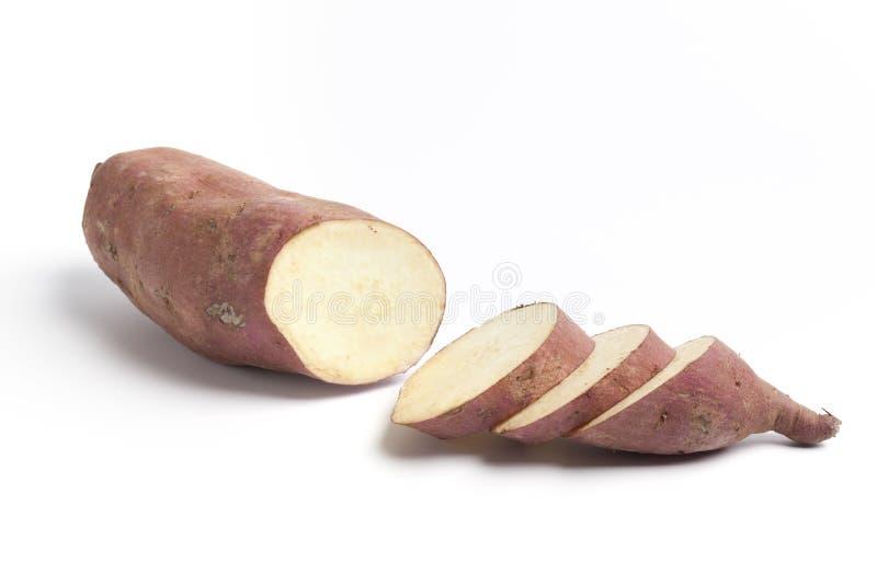 Süße Kartoffel mit Scheiben stockbilder