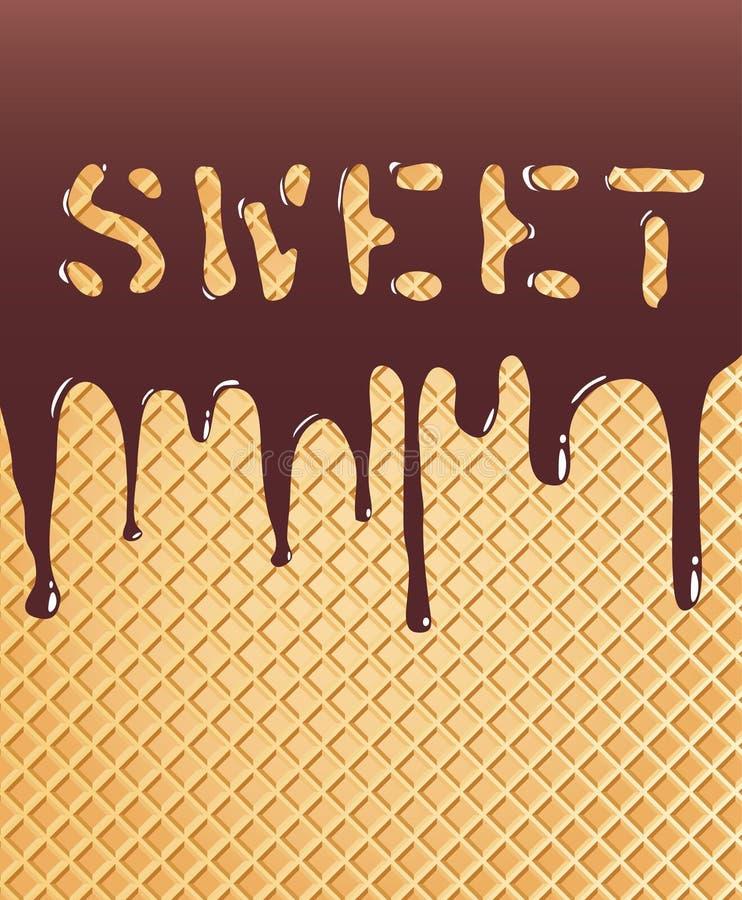 Süße Oblate vektor abbildung